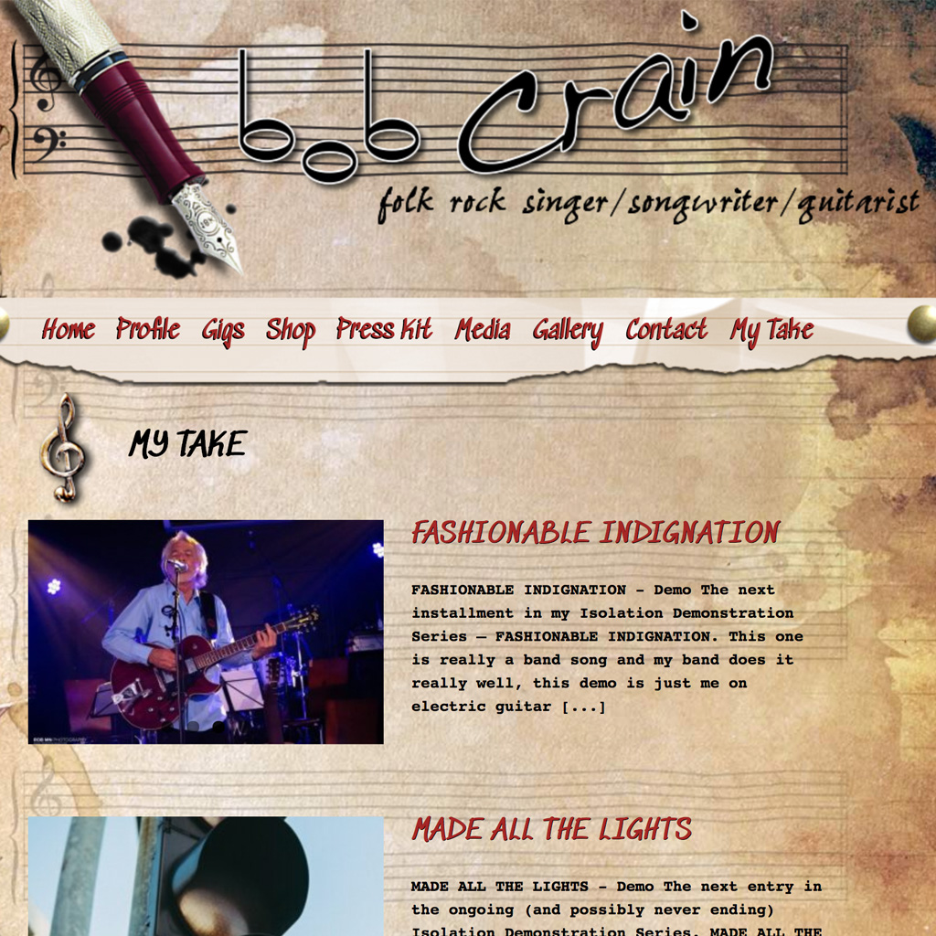 Bob Crain Singer Songwriter