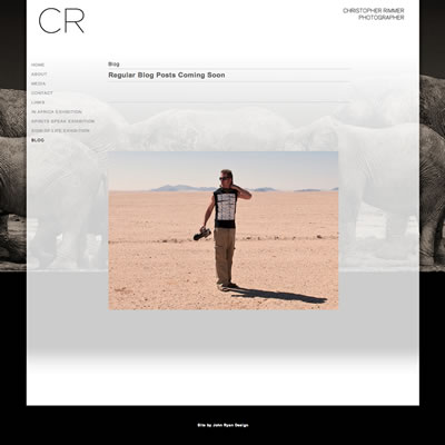 Website Design & Development : Christopher Rimmer Photographer