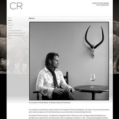 Website Design & Development : Christopher Rimmer