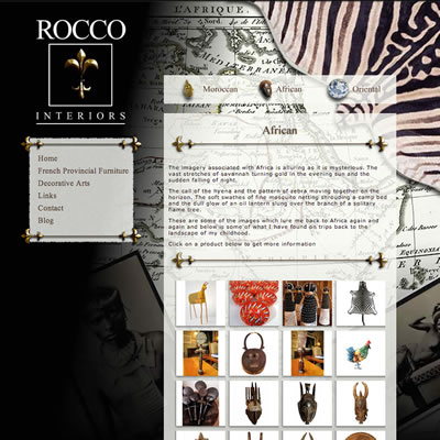 Website Design & Development : Rocco Interiors
