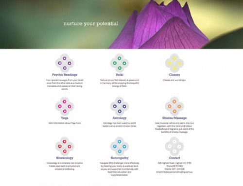 Website Design & Development : Experience Relaxation and Healing