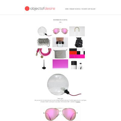 e-Commerce website : Object of Desire