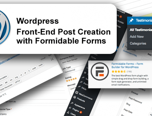 WordPress : Custom Posts with Formidable Forms