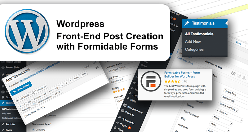 Custom Posts with Formidable Forms
