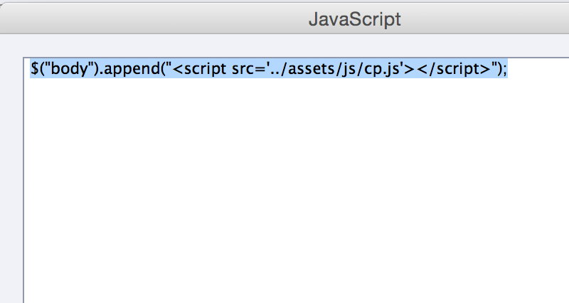 Using Javascript in Captivate JS include