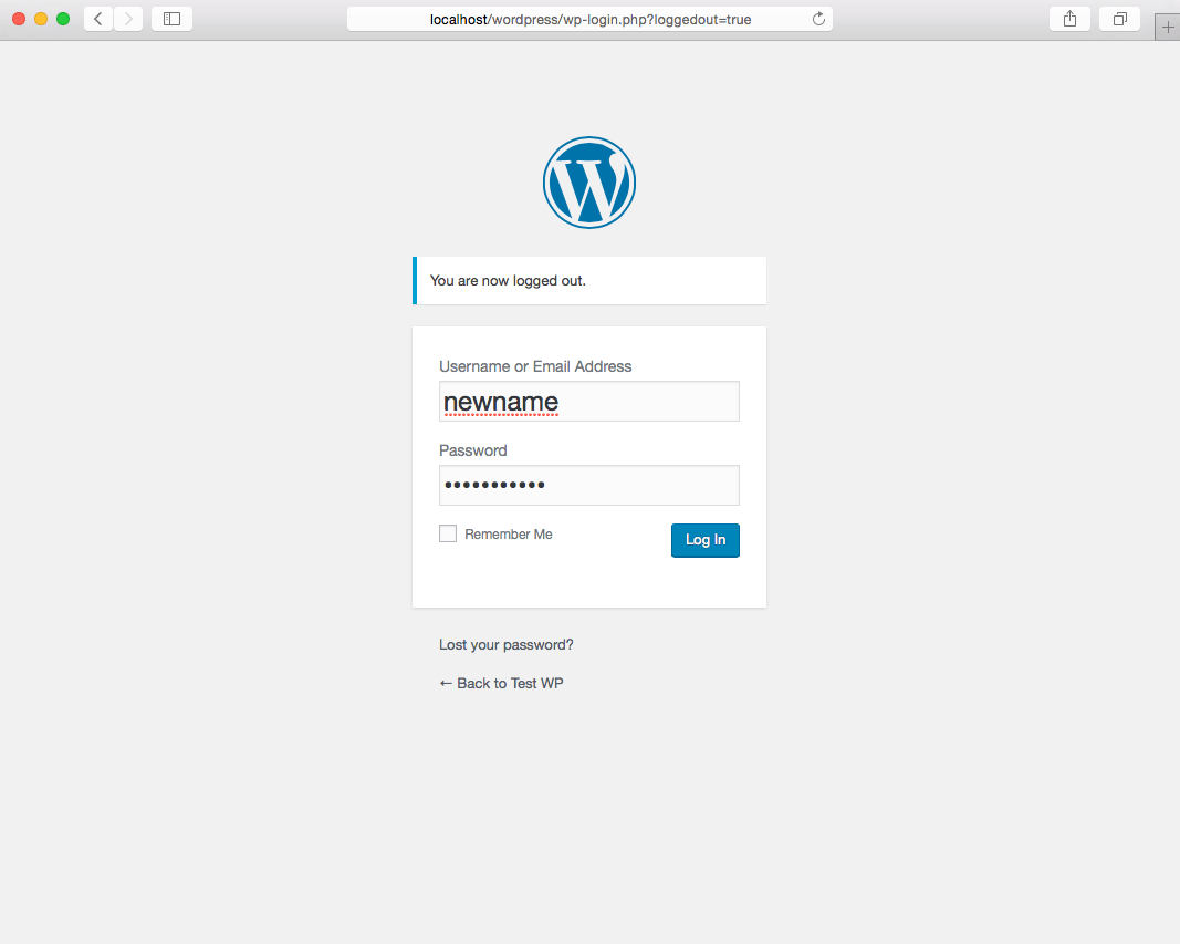 Creating a Wordpress Administrator with phpMyAdmin and mySQL step 5