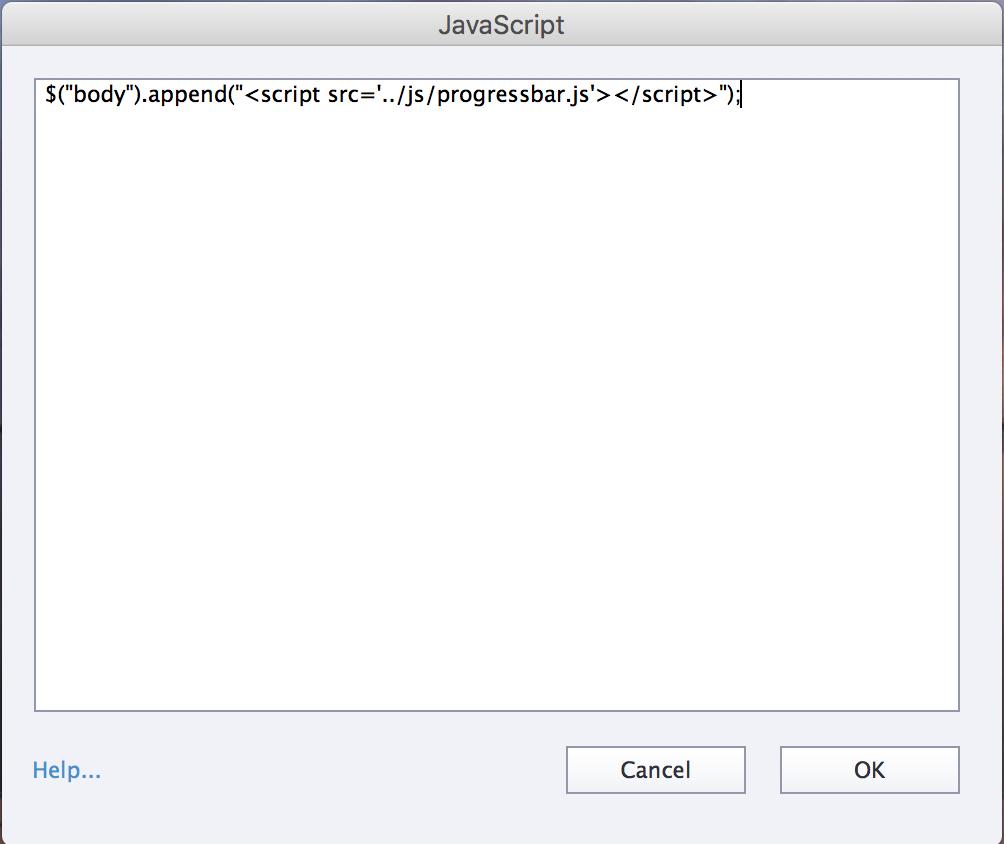 Captivate Progress bar include javascript