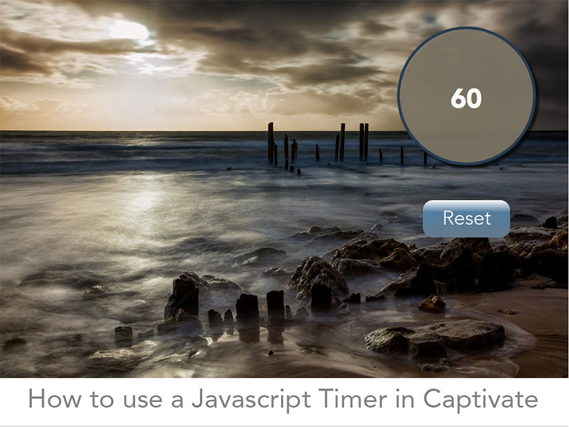 How to use a Javascript timer in Captivate splash screen