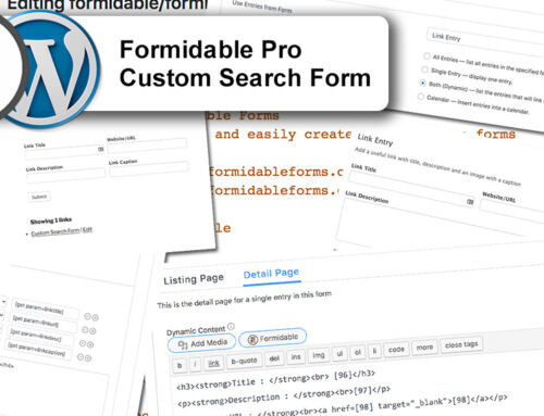 Creating forms using Formidable Pro in WordPress