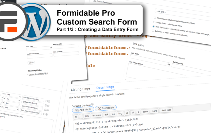 Formidable Pro Custom Search Form part 1