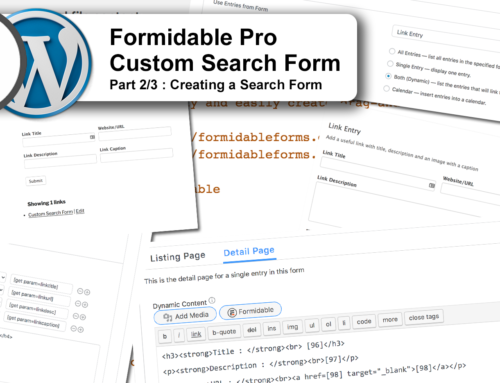 Create a search form with Formidable Pro