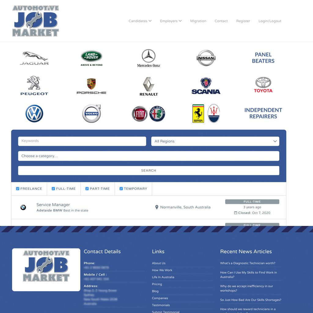 Automotive Job Market